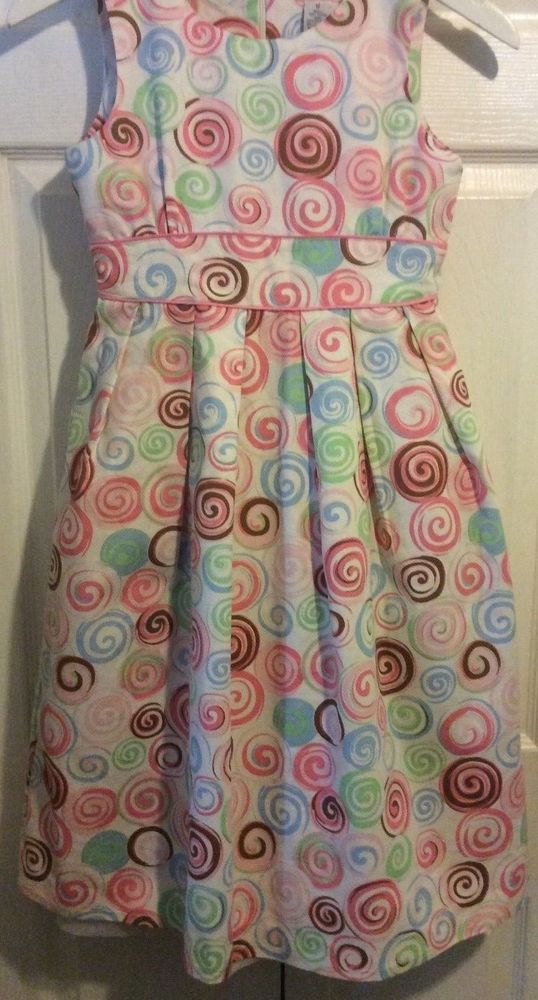 Easter E Land swirl Boutique dress NWT 12 chocolate brown pink blue green #ELand #DressyHolidayPageantParty