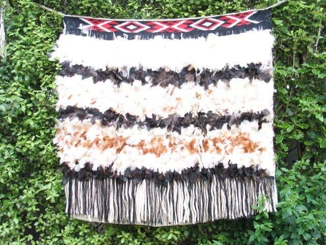 Maori Cloak - Korowai. Worn as a mantle of prestige and honour.