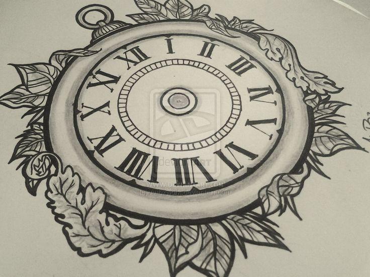clock tattoo design - Google Search