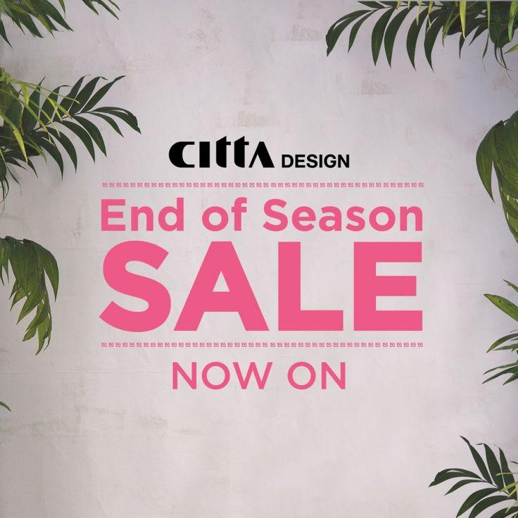 End of season sale at Citta Design