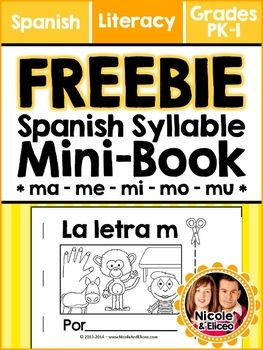 FREEBIE ALERT for learning to read in Spanish! - Minii cut & paste book for the letter m