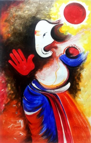 How would you like to pray Lord Ganesha? http://goo.gl/V9Jnts Browse the rest of our Kishor Kumar Mehta's collection, which includes the #ModrenArt: http://goo.gl/cR5Pzw