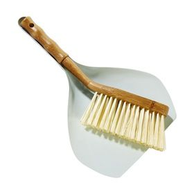 Bamboo Brush & Dust Pan Set