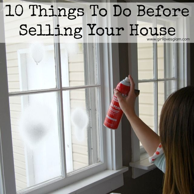 Ten Things To Do Before Selling Your House GREAT list for people thinking of selling! Working with a real estate agent can help with this list, but this is something to definitely start working on just before you list!