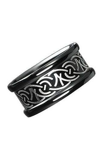 ANELLO IN ACCIAIO   - Modello - DARK SILVER EDR075 - colore: nero - materiale: acciaio