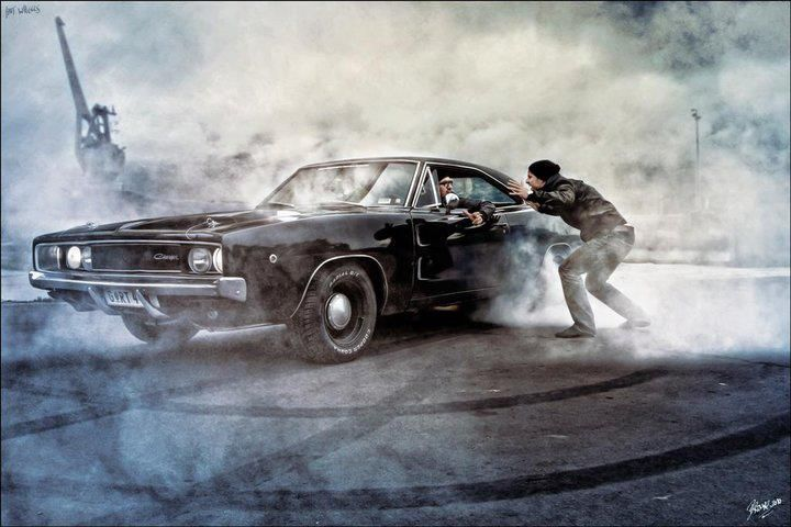 Burnout Charger Artististic Photography Editing