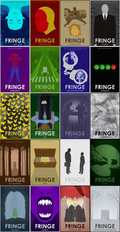 -- from http://davidryanandersson.tumblr.com/ Fringe Season 1 20 posters for 20 episodes View the full set in detail on my flickr.