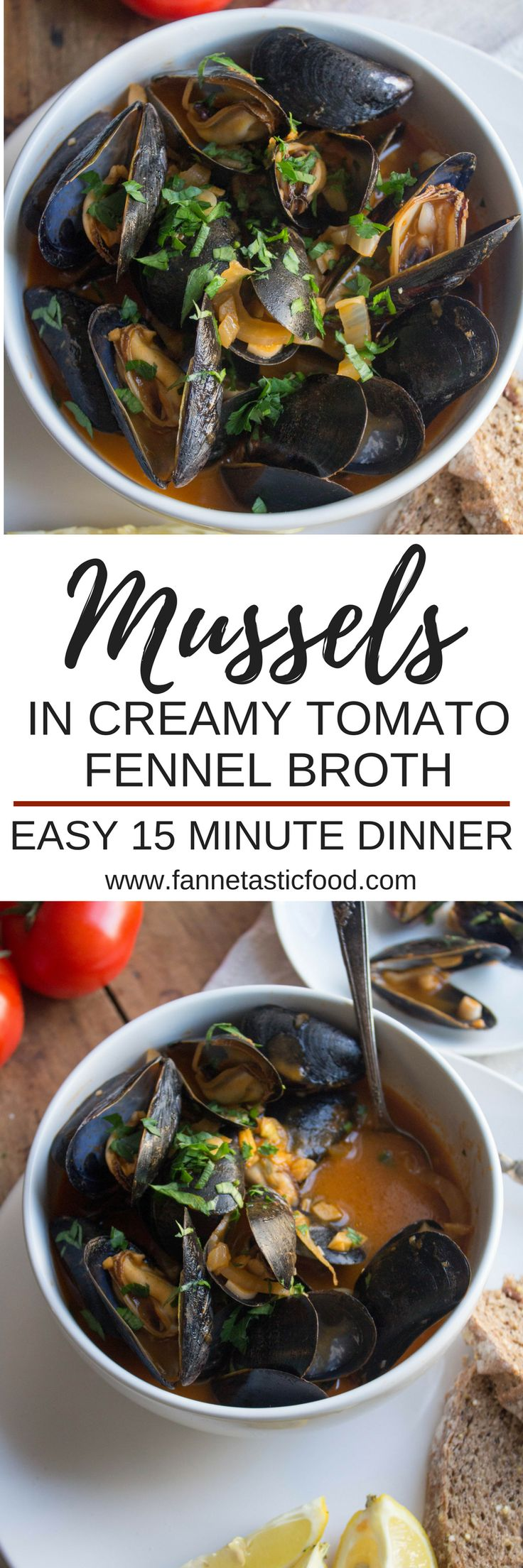 I was always intimidated by cooking mussels, but it turns out they're SO easy to make! This savory, satisfying meal comes together in just minutes thanks to a healthy shortcut that makes the broth super creamy and flavorful. Perfect for a quick 15 minute dinner or for impressing dinner guests!