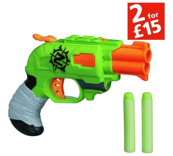 Buy Nerf Zombie Strike Doublestrike Blaster at Argos.co.uk - Your Online Shop for Blasters, launchers and accessories, Outdoor games, Outdoor toys, Toys.