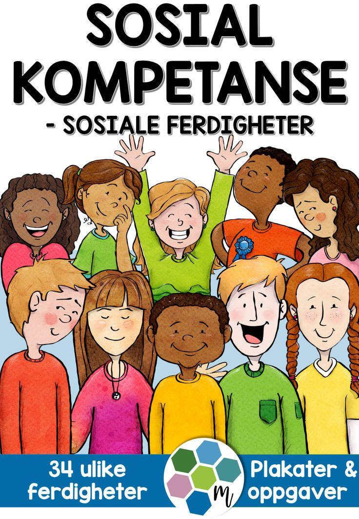 I dette opplegget får du:  ✔ 34 plakater med definisjoner på sosiale ferdigheter  ✔ 34 oppgaveark (ett til hver ferdighet)  ✔ 10 redigerbare plakater (alle fargene)  ✔ redigerbart oppgaveark  ✔ foreslått arbeidsmåte  ✔ bokmål & nynorsk