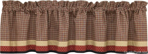 Home Place Bordered Lined Curtain Valance By Park Designs