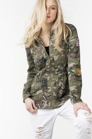 Camo patch jacket