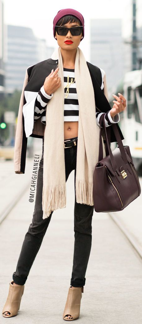 Street fashion… Micah Gianneli in Chicago… I love her, she's the Aaliyah of fashion