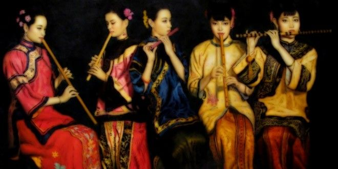 CHEN YIFEI (1946/2005), CHINESE PAINTER: Not only melancholic and lonely women in traditional dresses | Meeting Benches