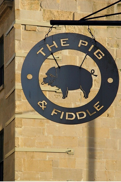 Get a sign - The Pig & Fiddle Pub