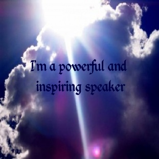 Affirmation to help you speak with self belief, confidence and enthusiasm.