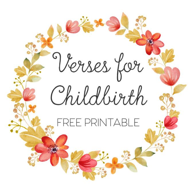 Verses For Childbirth Free Printable | Feathers in Our Nest #Scripture…