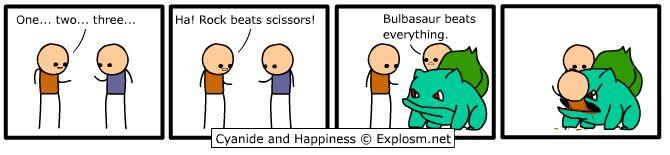 """""""Bulbasaur beats everything."""""""