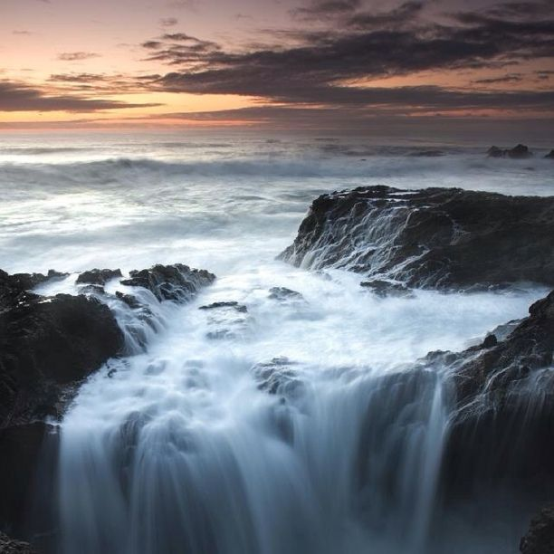 Sunset on the NorthCoast! Discovered by Mark Scheffer at Russian Gulch State Park, Mendocino County, California