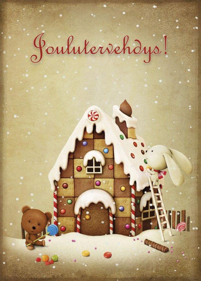 Hmmm, tätä piparkakun tuoksuista joulukorttia! Finnish Christmas Cards