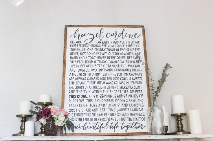 a new take on the first birthday sign