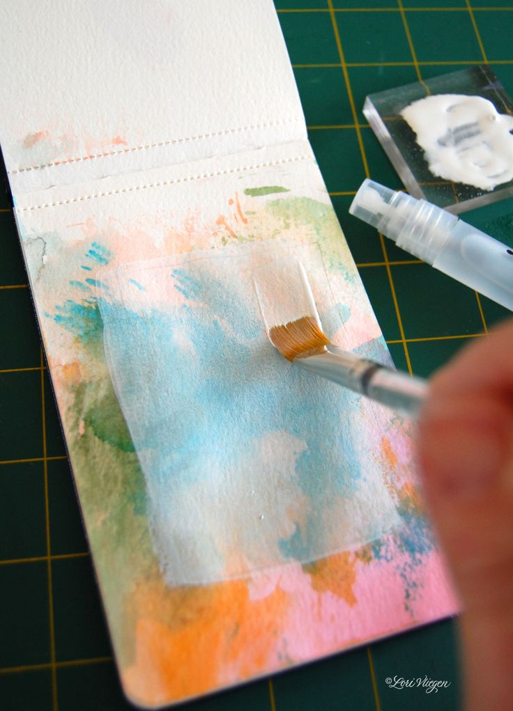 1000 images about gesso technique on pinterest muslin for Creative watercolor painting techniques