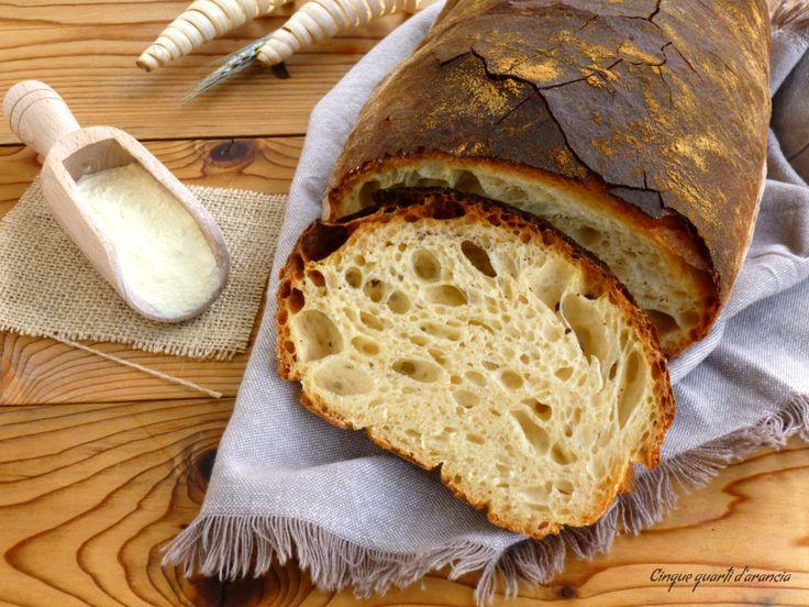 Ilpane di semola a lunga lievitazione è un pane davvero ottimo, croccante fuori e morbido dentro, con una bella alveolatura e un profumo davvero unico! Qu