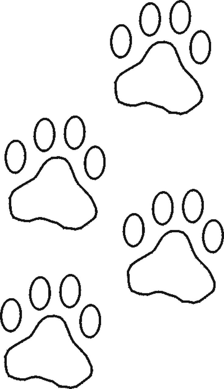 Free Stencils Collection: Dog Stencils: Free Dog Stencils Collection: Paw Prints