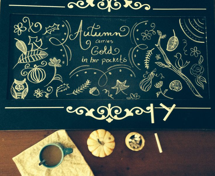 Coffee and chalk. That'll do.