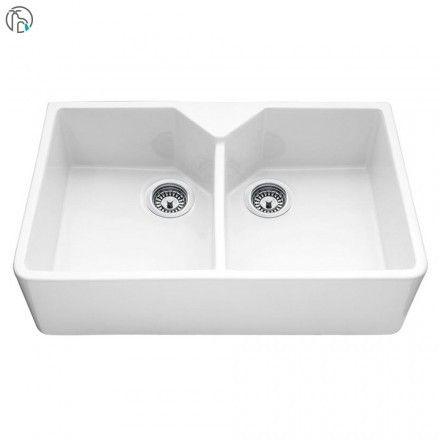 bluci vecchio g10 double bowl ceramic belfast sink - Double Ceramic Kitchen Sink