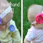 I love to make baby headbands. Before I had my little girl I made a TON of headbands. One night my husband asked me to count how many I had made for our unborn