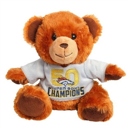 Denver Broncos 2015 - 2016 Super Bowl 50 Champions Seated Plush Stuffed Shirt Bear