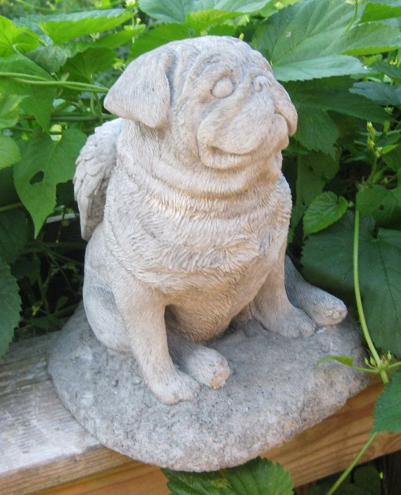 High Quality I Have This And It Is Beyond Precious! Concrete Angel Pug Dog Statue Or  Memorial