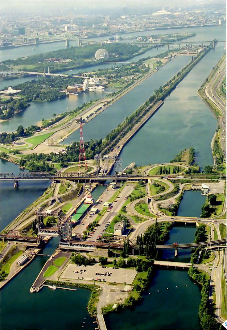The Saint Lawrence River in Montréal