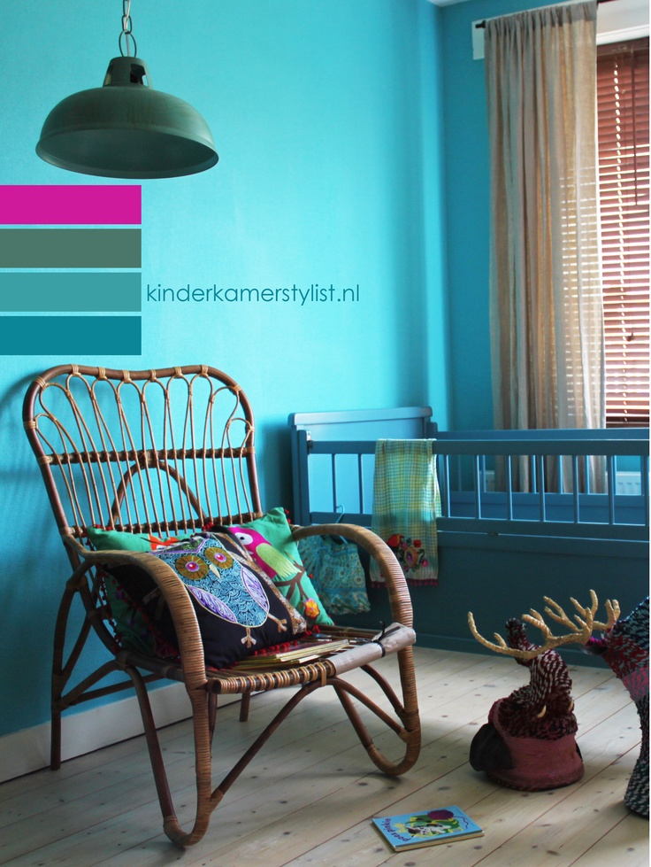 #color #kinderkamer #kleur inspiratie