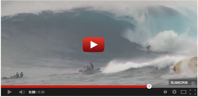 Wave Flips Boat At Jaws While Surfer Drops In the Next Wave