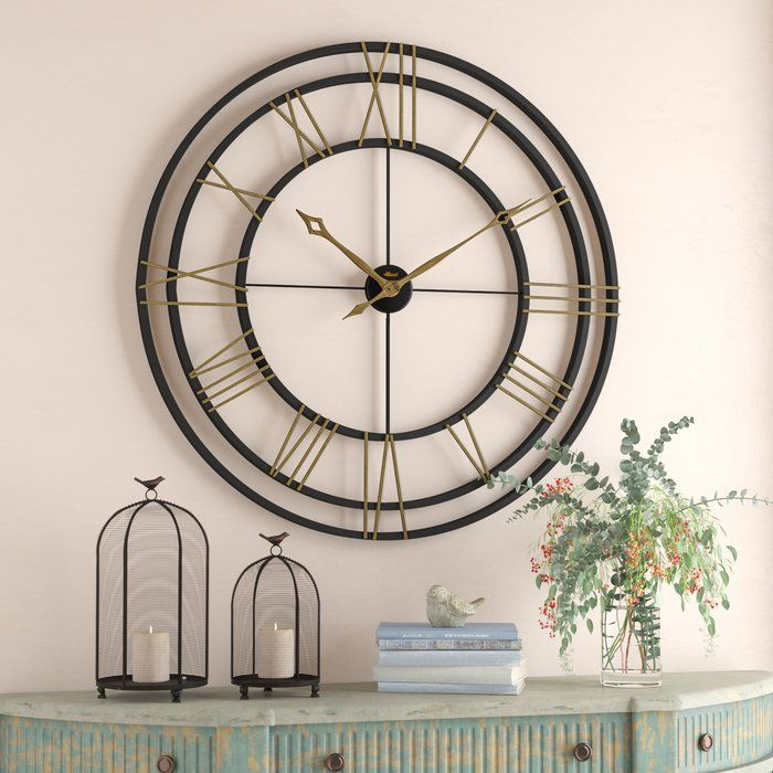 Oversized 45 Wall Clock Oversized Wall Clock Round Wall Clocks Wall Clock