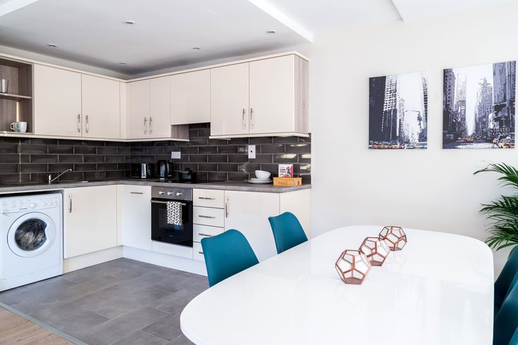 Residential - Fit Out - Apartment - Open Plan Living - Kitchen - Dining - Eames Chair - IKEA - Subway Tiles - Millennium Tower, Dublin by Think Contemporary