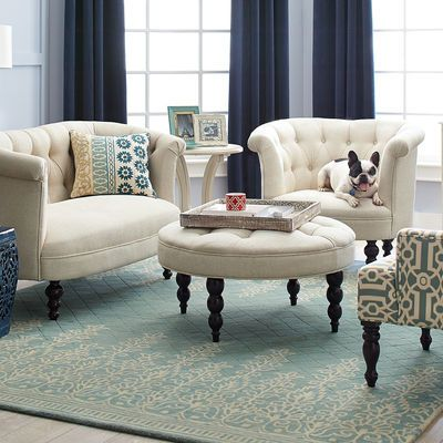 Delightful Kushi Border Rugs   Light Blue Part 22