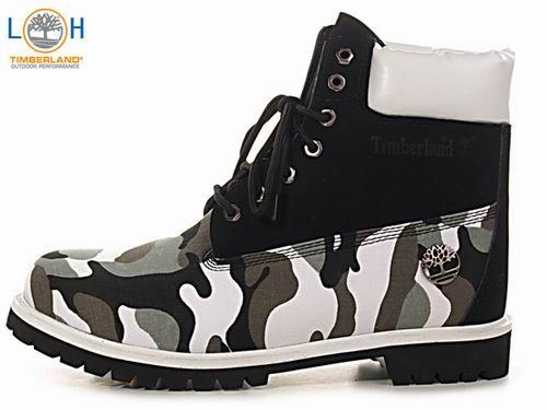 Timberland Custom Boots White Black Camo [Timberland custom] - Timberlands Boots