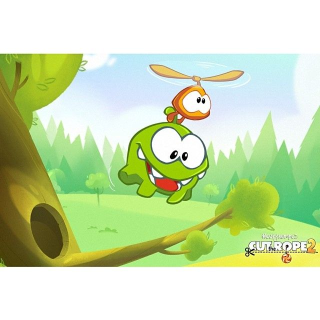 Cut the Rope 2 is here http://rdrct.it/cuttherope2! #cuttherope #cuttherope2 #omnom #cute #green #little #monster #love #new #game #puzzle #family #playing #play #mobile #games #phone #fun #happy #nice #iphone #ipod #ipad #app #application