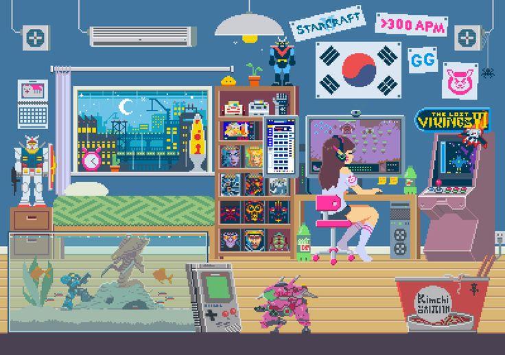 (Bidrag - Webhallen.com) I love this too much. I love how D.VAs room looks