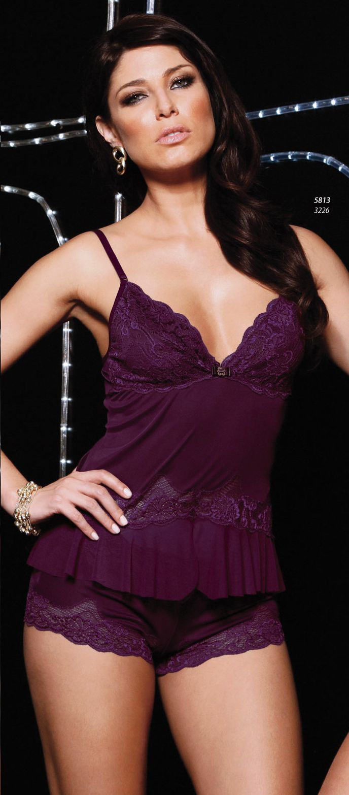 Brazilian Lingerie - Microfiber Shortdoll with Purple Lace. Gisele Lima offers free discreet shipping on all of our Uniquely Sexy lingerie, clothing, plus size, Brazilian imports, bridal, stockings, costumes, gift sets, novelties & more.  Colors: Dark purple. NIGHTGOWN 100%POLYAMIDE. Our Brazilian lingerie is carefully designed with ultimate quality materials, achieving not only an exotic and splendid design but also a comfortable fit. MADE IN BRAZIL.