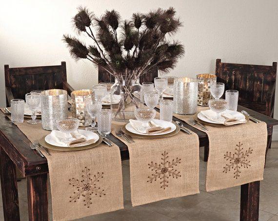 Camino de mesa de invierno de Navidad por HomeLinensBoutique