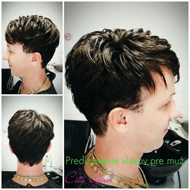 Predlžovanie vlasov pre mužov :) #hairextensions #citygirlhair #hair #menshair #extensions #hairdresser