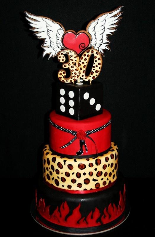 Rockabilly 30th Birthday Cake. Mud Cake, Carrot Cake ...