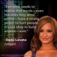 75 best quotes images on pinterest demi lovato quotes idol and demi lovato reminds us that words can hurt too show your support for bullying prevention voltagebd Gallery
