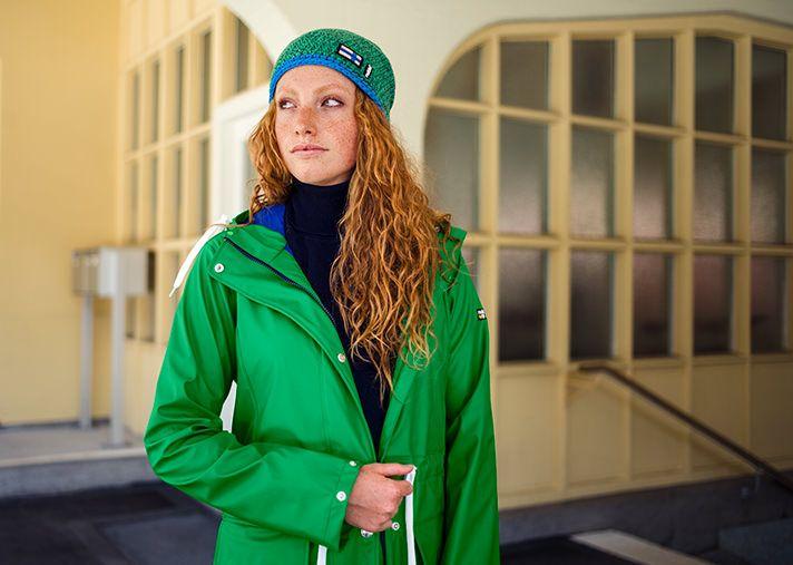 """KILPINA LADIES RAINCOAT , fern green  """"STAY DRY WHERE EVER YOU GO!""""  Wir machen Regen schöner!"""