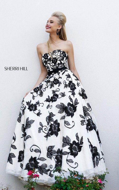 Pattern black and white elegant dresses for ladies