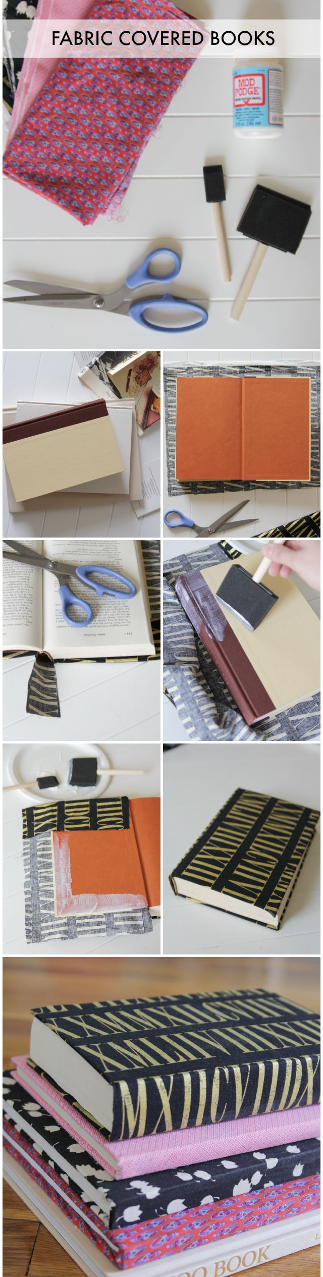 DIY Fabric Covered Books | Decor Fix #diy #crafts